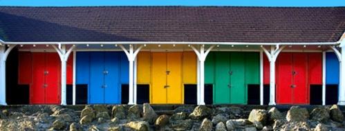 Beach Huts by JohnBick