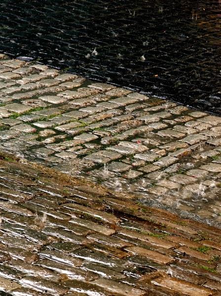 Wet Cobbles by JohnBick
