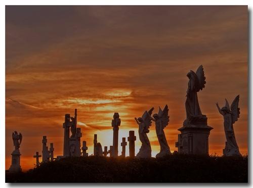 Graveyard Sunset by almar_digital