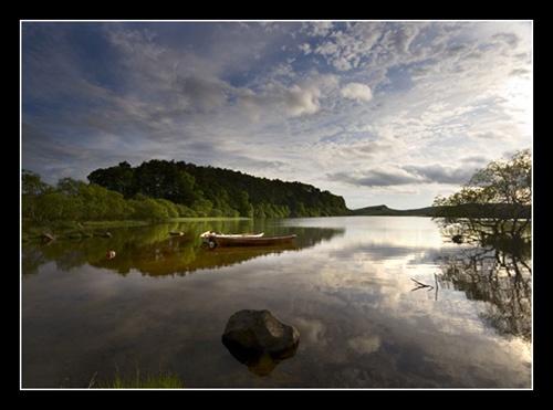 Fist Light on the Lake by danbrann