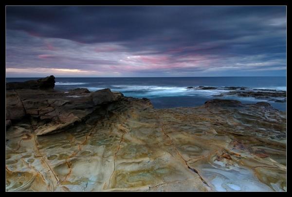 Rock Shelf Winter Dawn by Robsterios