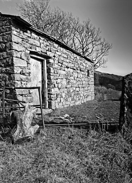 Barn & Broken Gate by JohnBick