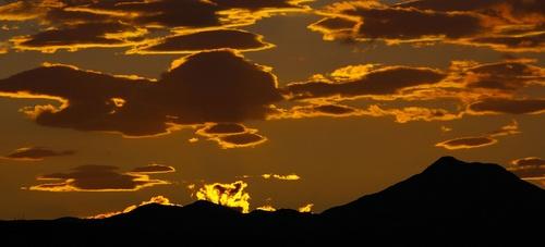 Sunset over Ben Ledi by BarronView