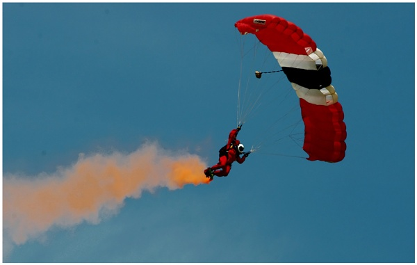 A Red Devil Parachutist by malleader