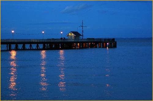 Penarth Pier at Dusk by Pixsie