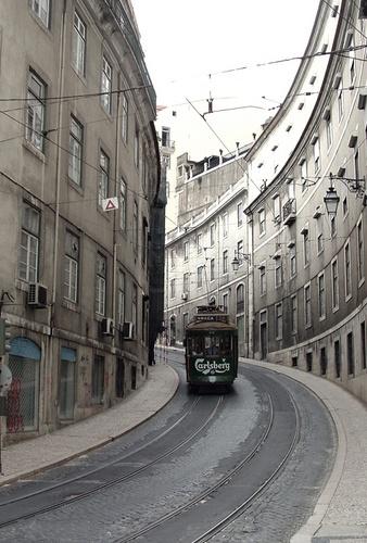 Lisbon tram by ambro