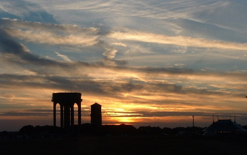Water Tower Sunset by oldbiddy
