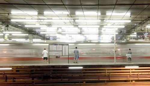 Shibuya Night Trains by bentspace