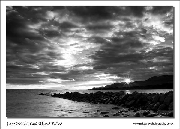 Jurassic Coastline BW by Mike Gray