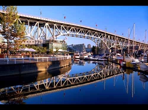 Granville Island bridge Reflections by OPHITE_ZONE