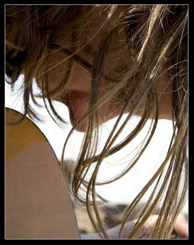 Beach Hair Blues by rubylee83