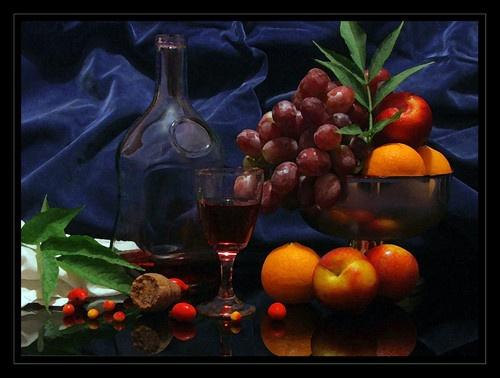 wine and fruit by willshot