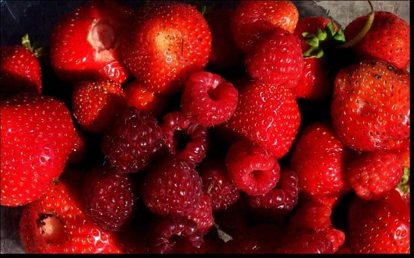 raspberries by daringdaphne