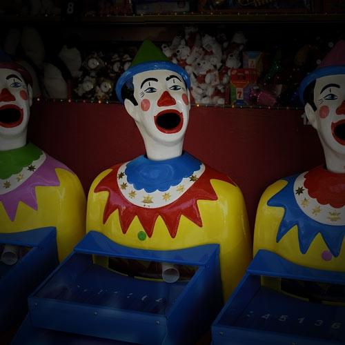 three clowns by neogen