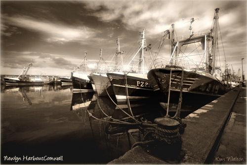 Newlyn Harbour by Kim Walton