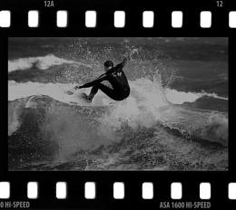 B&W Surfer
