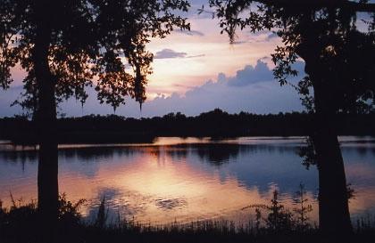River Sunset by tarara