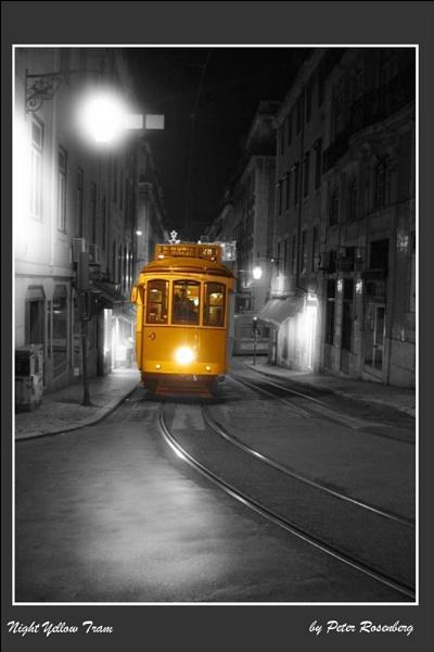 Night Yellow Tram by pmscr