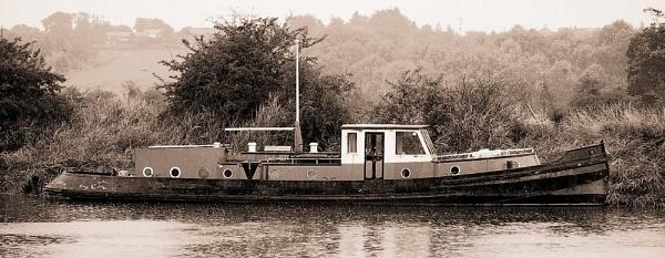 Boat on river Weaver by Bogwoppett