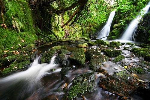 Double Waterfall Dartmoor by markstokes