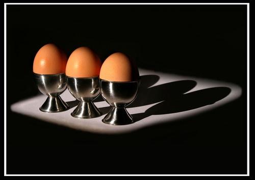 Colour Chiaroscuro Eggs by Cammy