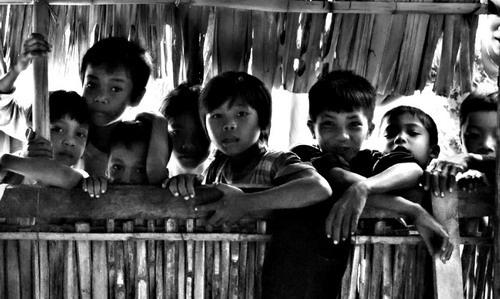 Village kids by Benji