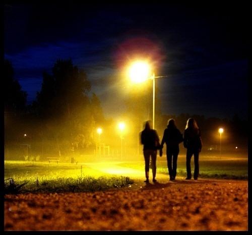 Walking Through The Night by WhiteLily