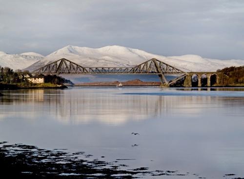 Connel Bridge in Winter by Finlayoman