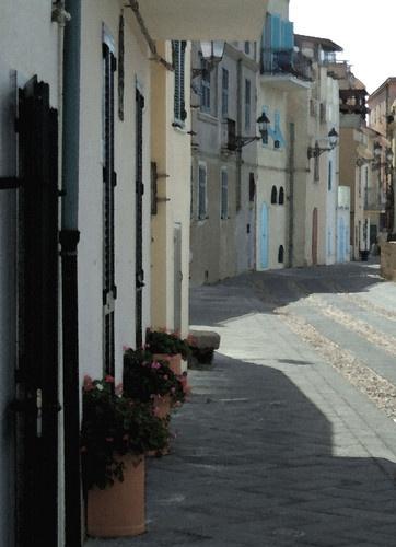 sardinian street scene by bigtony