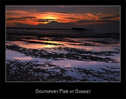 Southport Pier at Sunset by redhed17