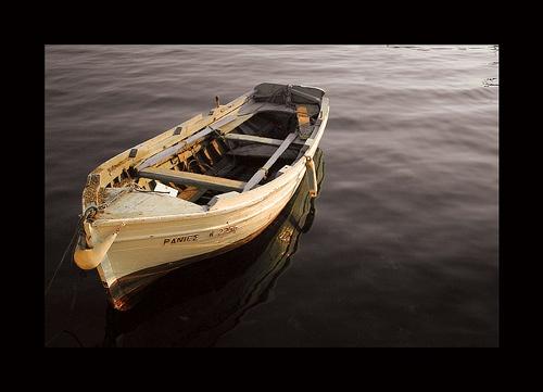Greek Boat in Stoupa by SmileySteve