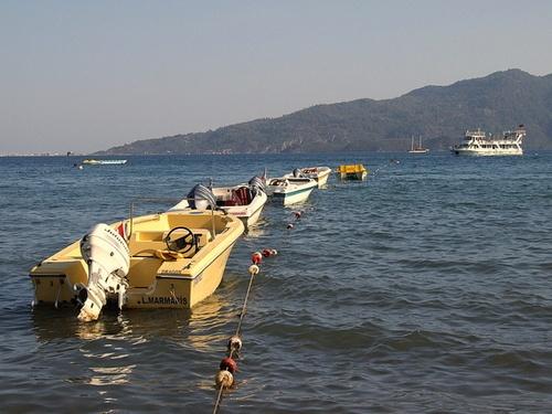Boats at Marmaris by AlanBW