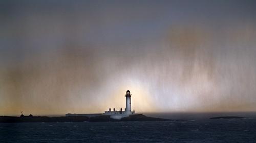 Lismore Lighthouse Through a Hail Shower by Finlayoman