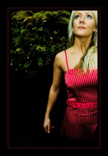 woman in red dress by Uppercut