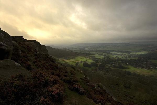 Morning Light on Curbar Edge II by JohnBick