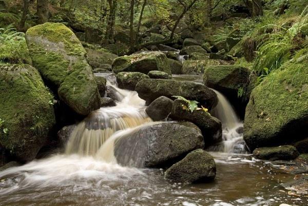 Middle Falls Padley Gorge by JohnBick