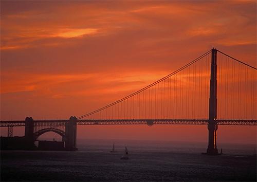 Golden Gate Sunset by stevie_h