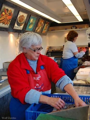 At the fishmarket by Zorrito
