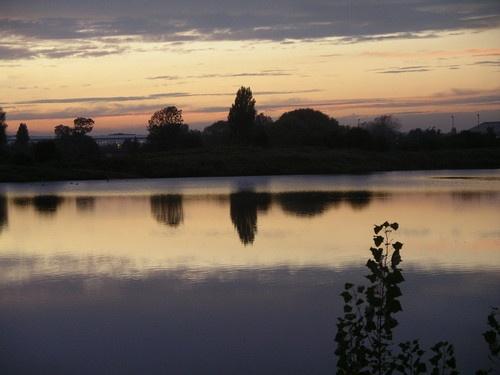 Sandy Lake Sunset by RoseTeal