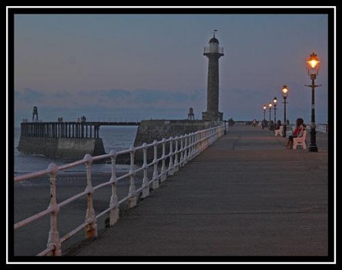 West Pier, Whitby. Late Summer by PAllitt