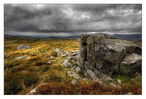 Some moor rocks by geoffrey baker