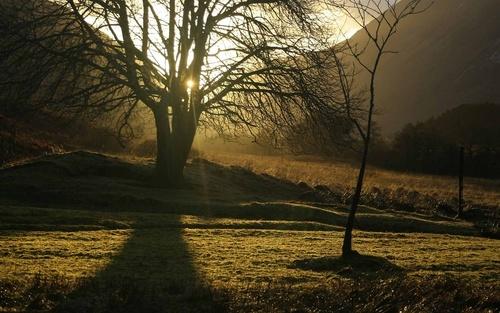 Winter Sunbeam, Glen Etive by philhowe