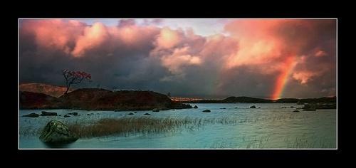 Lochan Rainbow by Bexphoto
