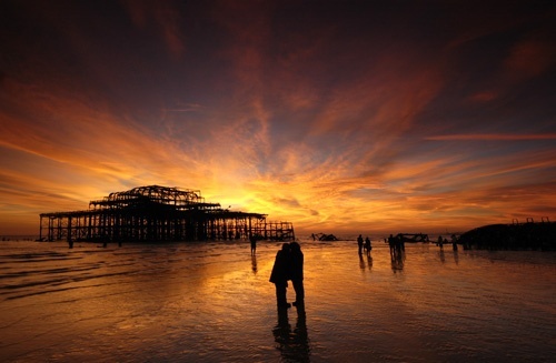 West Pier Sunset by andrejolley