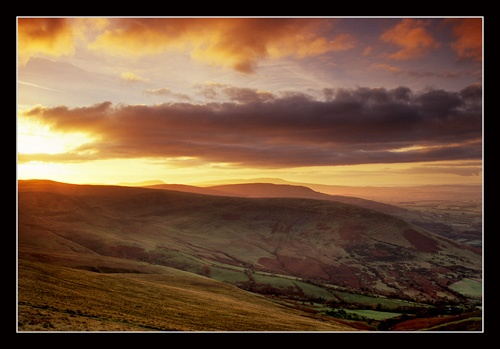 Brecon Beacons sunset by jond