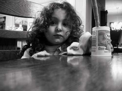 yogurt on her face by rayne73