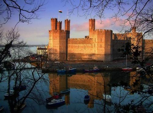 Caernarfon Castle by Alfoto