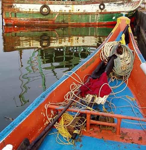 Colourful Fishing Boats by KarlmarxEra