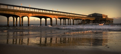 BOSCOMBE PIER AT SUNSET by dionne