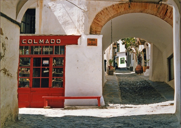 Street in Cadaques, Costa Brava, Spain by BrianSS